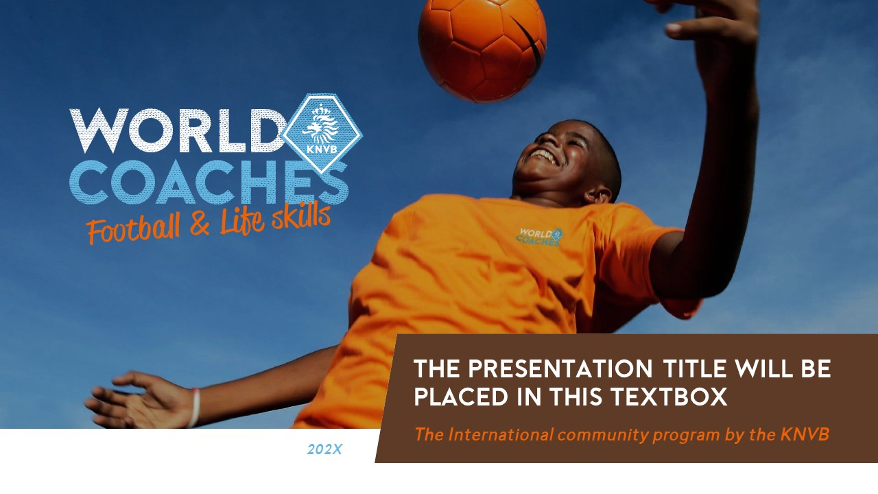 Voorbeeld PowerPoint slide WorldCoaches KNVB